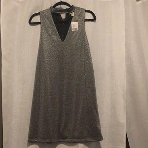 Sparkle High Neck Collar Dress